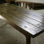sold13 18c walnut French farmhouse table