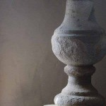 sold23 a pair of stone lamps